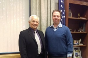 Insurance Commissioner Mike Kreidler and Chris Free